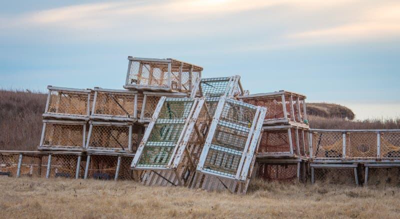 Hummerfallen in Prinzen Edward Island lizenzfreie stockfotografie