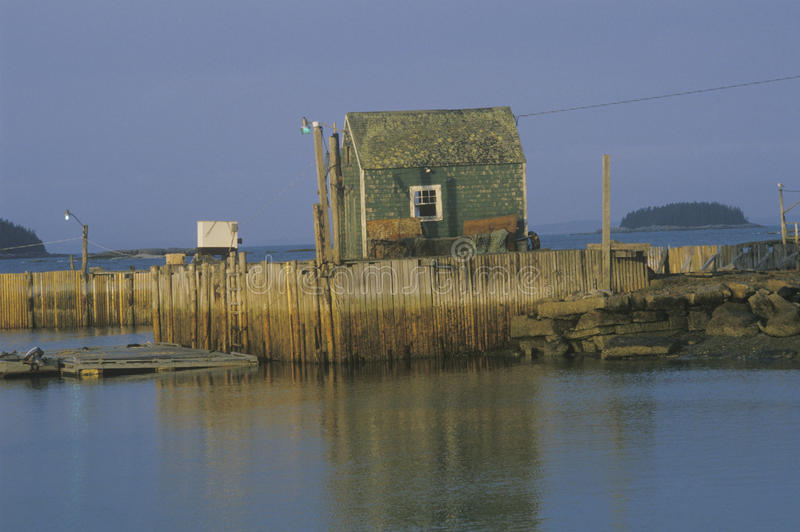 Hummerfischerdorf, Penobscot-Bucht, ICH stockfotos