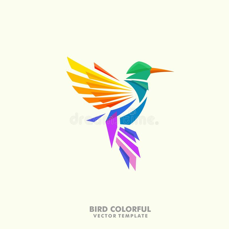 Humming bird illustration Concept vector Design template royalty free illustration