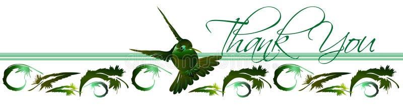 hummingbird 2 карточек благодарит вас иллюстрация вектора