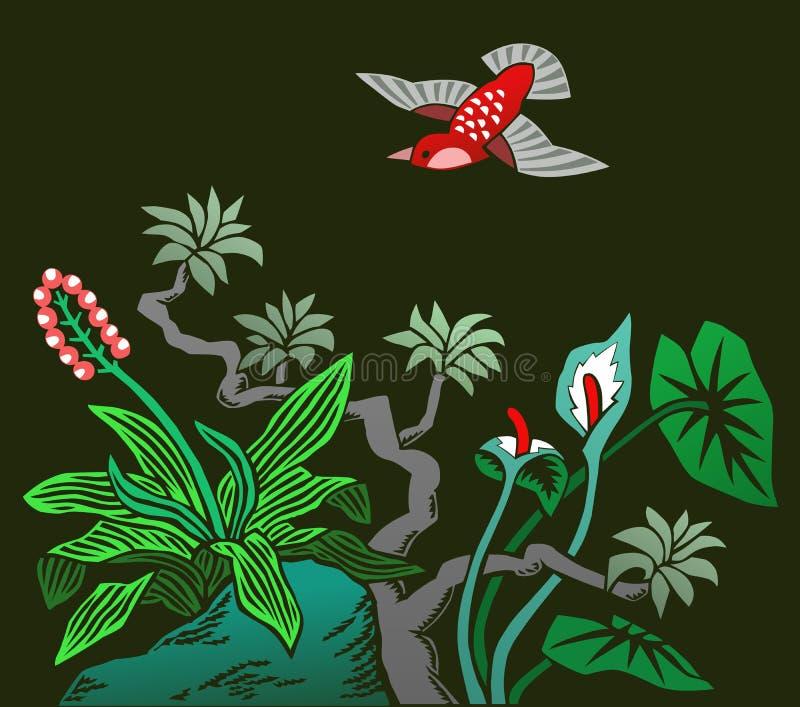 Download Hummingbird stock illustration. Image of tropical, branch - 26603871