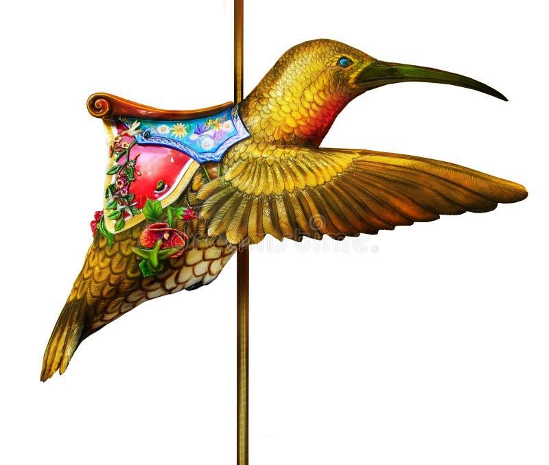hummingbird carousel стоковое фото rf