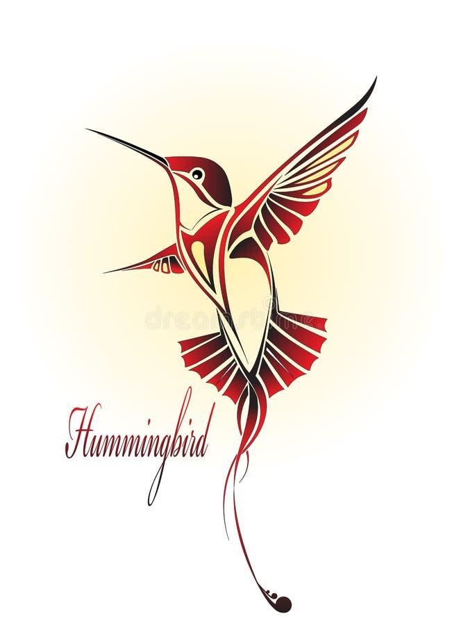 Hummingbird color royalty free stock photography