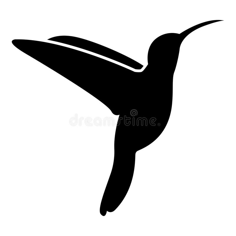 Hummingbird icon black color illustration flat style simple image royalty free illustration