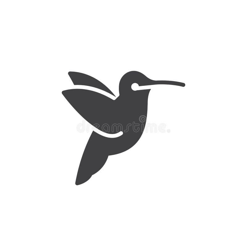 Hummingbird icon vector, filled flat sign vector illustration