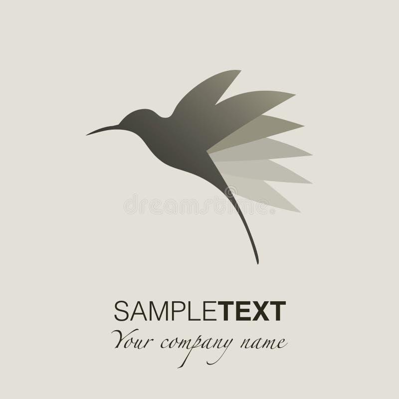 Hummingbird sylwetki logo royalty ilustracja