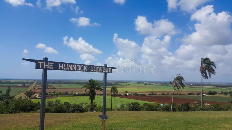 The Hummock Lookout Bundaberg Australia. Bundaberg Australia is the business centre for a major sugar cane growing area, and is well known for its export of royalty free stock photography