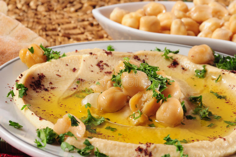 Hummus royalty-vrije stock fotografie