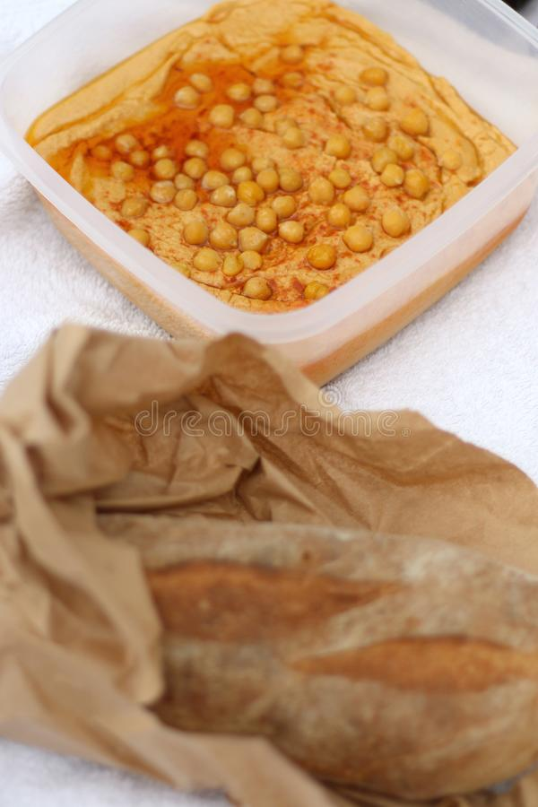 Hummus fotografía de archivo libre de regalías