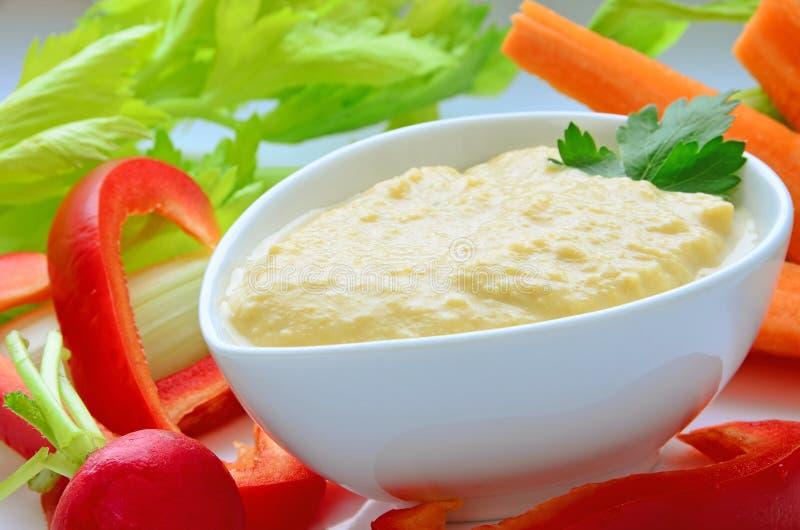 Hummus stockbilder