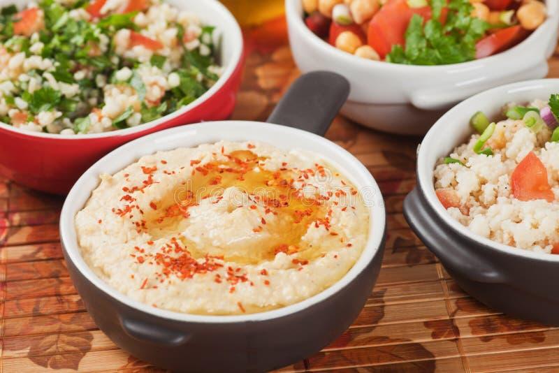 Hummus, chickpea upad fotografia stock