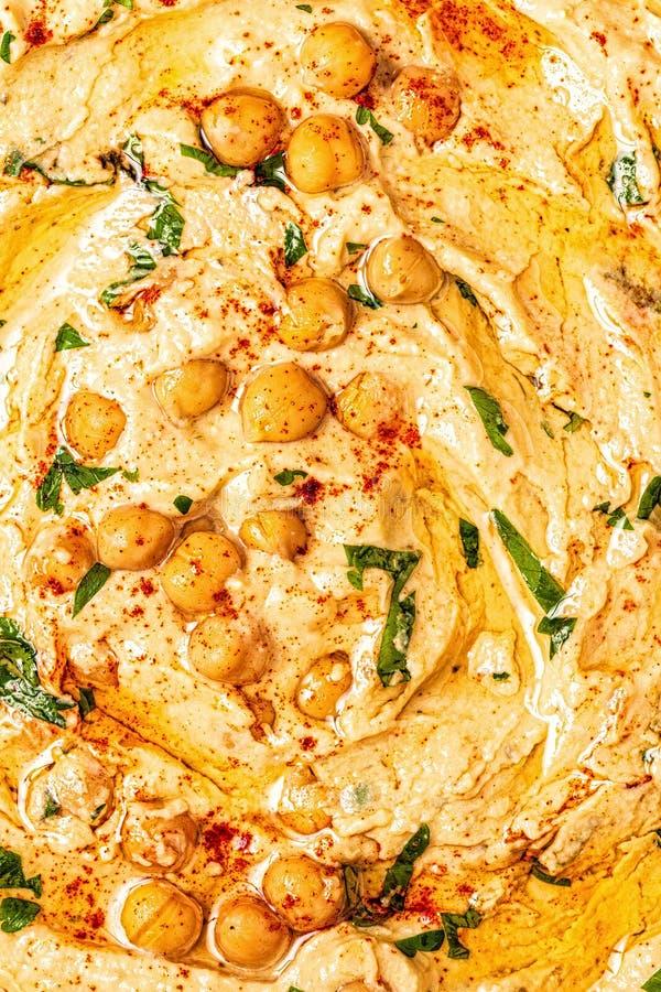 Hummus, chickpea upad z pikantność, obrazy royalty free