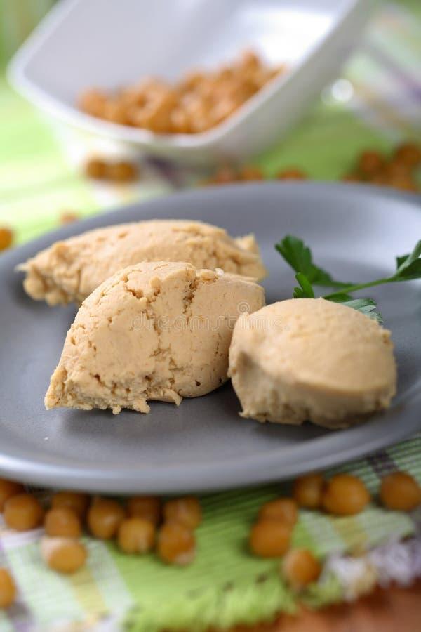 Hummus de las pastas fotografía de archivo