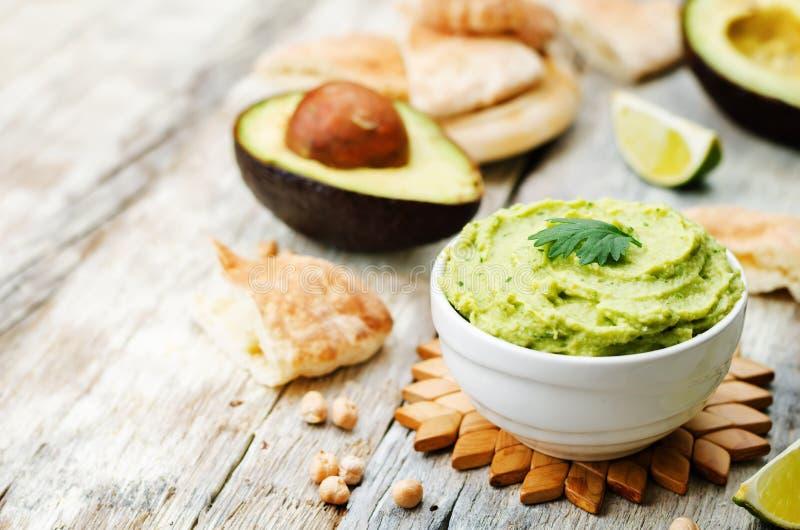 Hummus do abacate imagens de stock