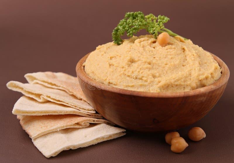 Hummus et pita photo stock