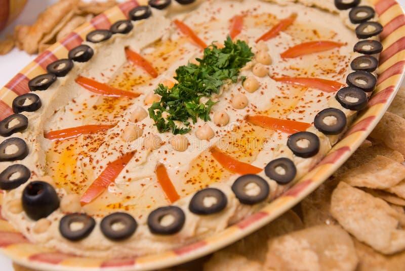 Hummus gastronome photo stock