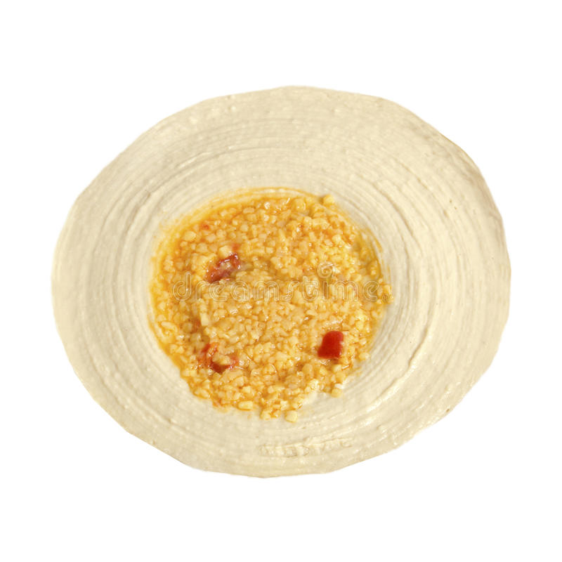 Download Hummus With Minced Roasted Garlic Stock Photo - Image: 17980856