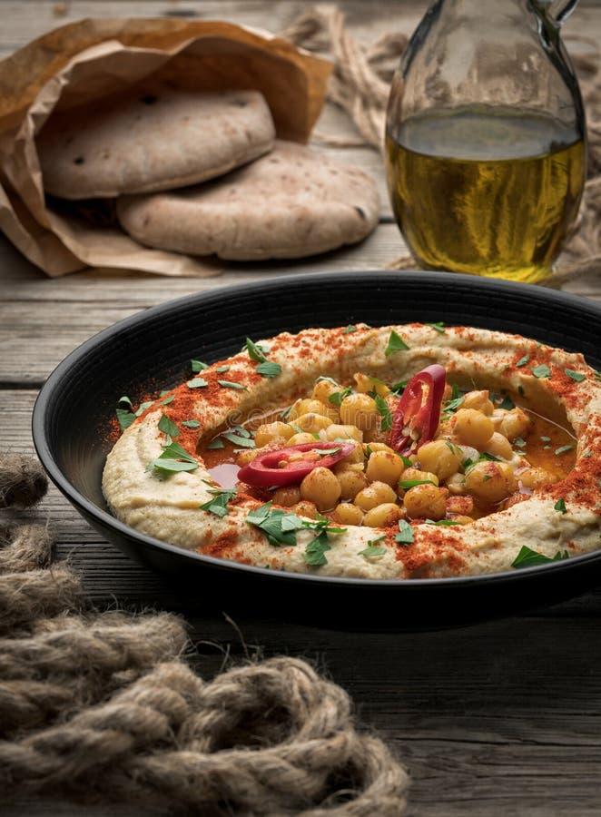 Hummus Z Pita zdjęcie stock
