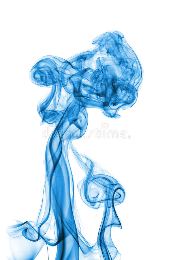 Humo azul abstracto foto de archivo