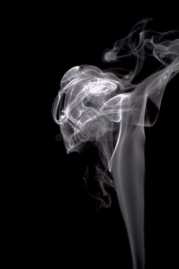 Humo blanco de los recursos gráficos negros del fondo de la textura del humo ilustración del vector