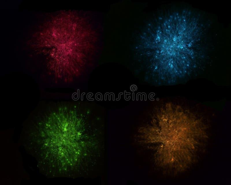 Humo coloreado imagen de archivo libre de regalías