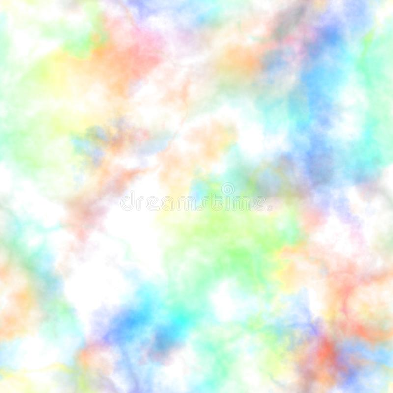 Humo colorido abstracto en el fondo blanco Nubes multicoloras Modelo nublado del arco iris Gas borroso vapor niebla libre illustration