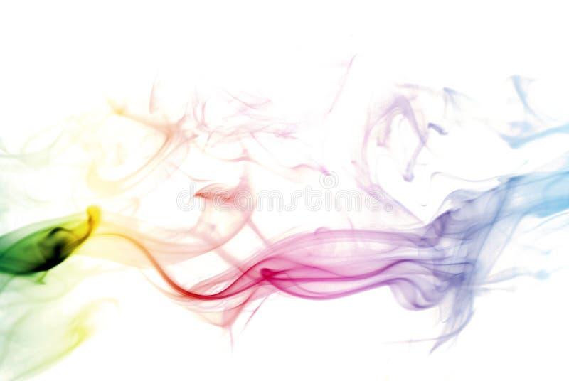 Humo colorido del arco iris fotografía de archivo