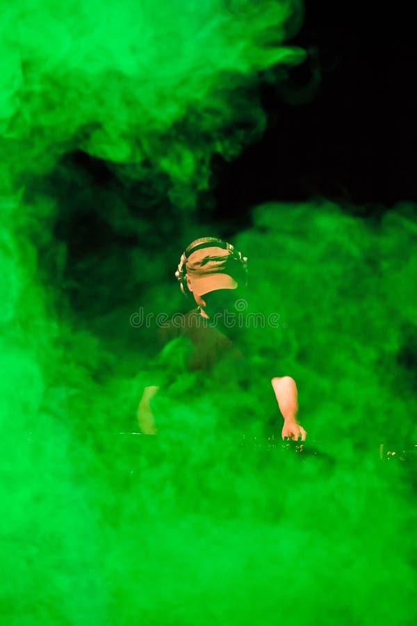Humo de DJ fotografía de archivo