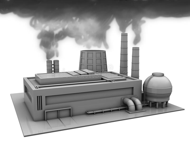 Humo de la fábrica stock de ilustración