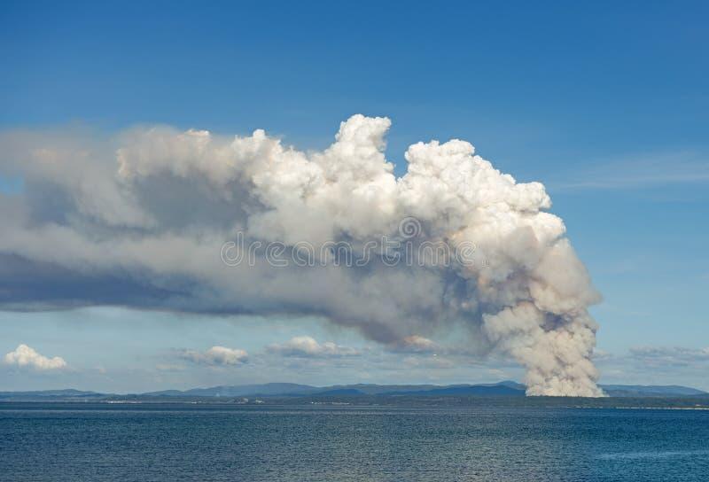 Humo del Bushfire foto de archivo libre de regalías