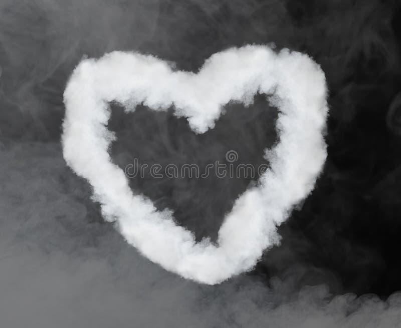 Humo en forma de corazón stock de ilustración