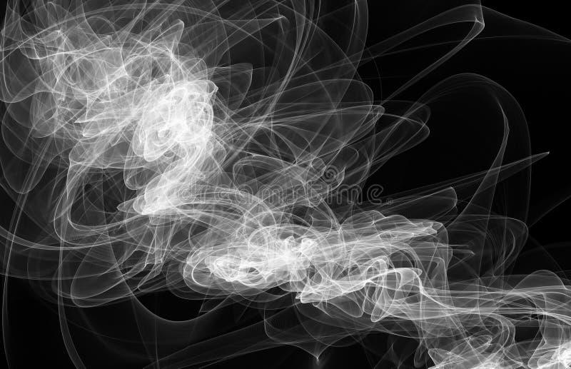 Humo en un fondo negro imagen de archivo