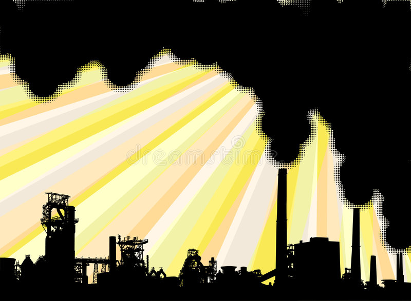 Humo industrial libre illustration