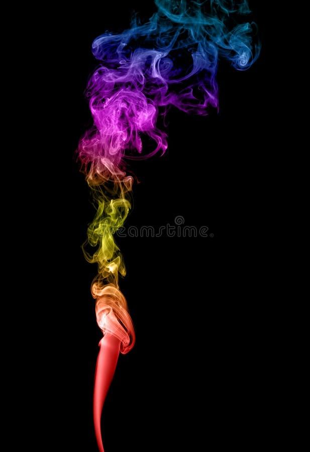 Humo multicolor abstracto fotografía de archivo