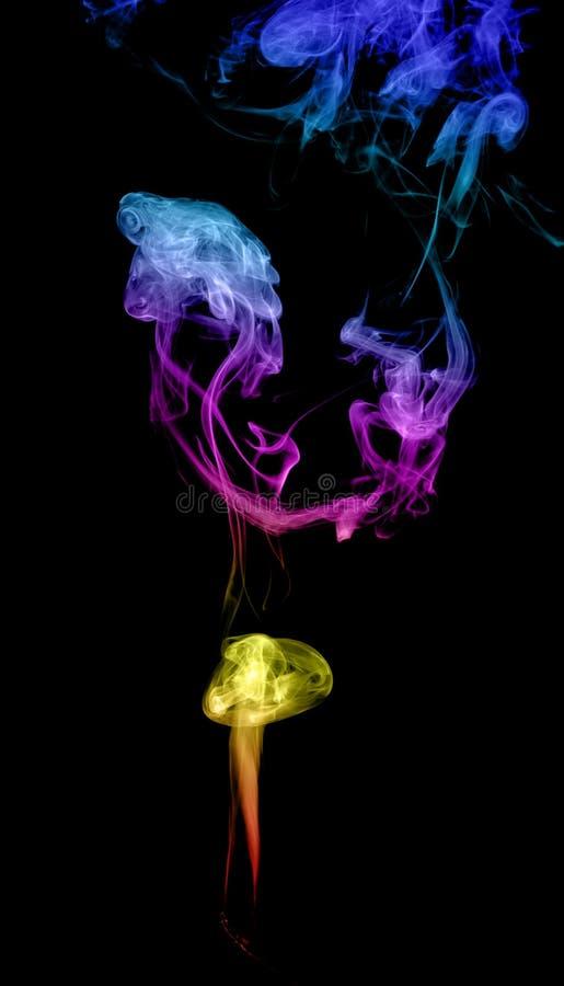 Humo multicolor abstracto imagen de archivo libre de regalías