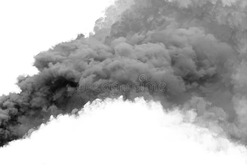 Humo negro imagen de archivo
