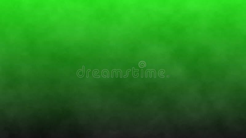 Humo oscuro en una pantalla verde, fondo abstracto ilustraci?n 3D stock de ilustración