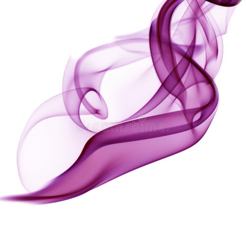 Humo púrpura en el fondo blanco fotos de archivo