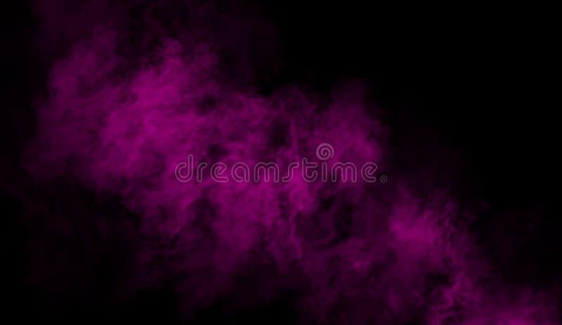 Humo púrpura en el piso La textura aislada sobrepone el fondo fotos de archivo