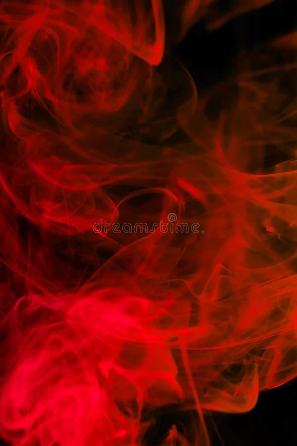 Humo rojo abstracto fotografía de archivo