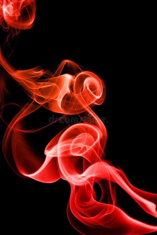 Humo rojo abstracto imágenes de archivo libres de regalías