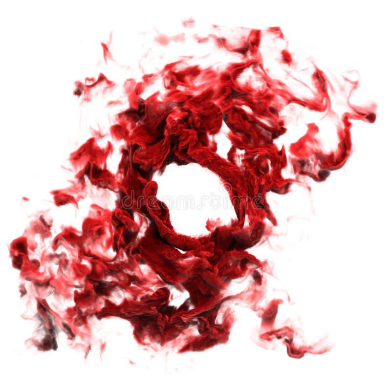 Humo sangriento rojo foto de archivo