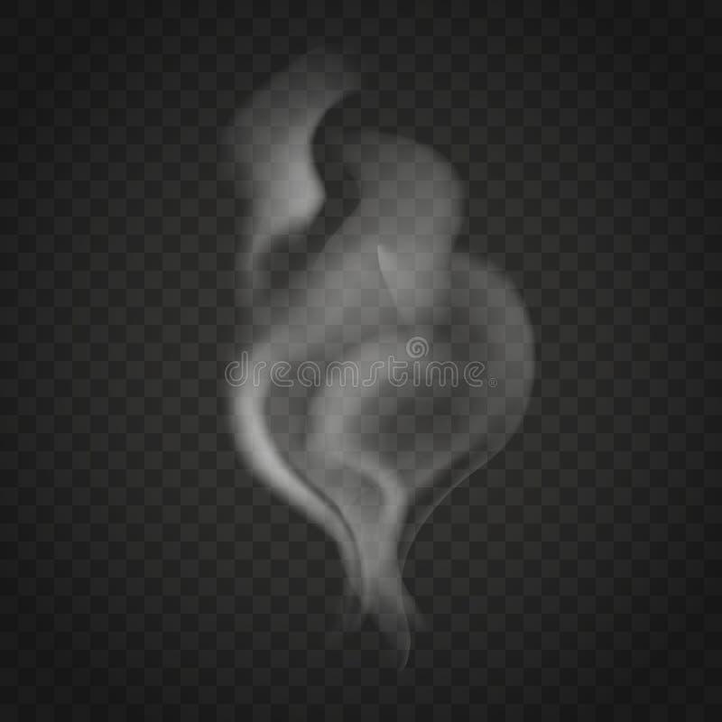 Humo transparente aislado en fondo oscuro libre illustration