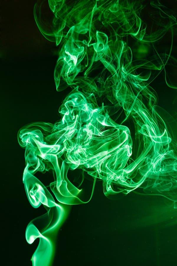 Humo verde foto de archivo libre de regalías