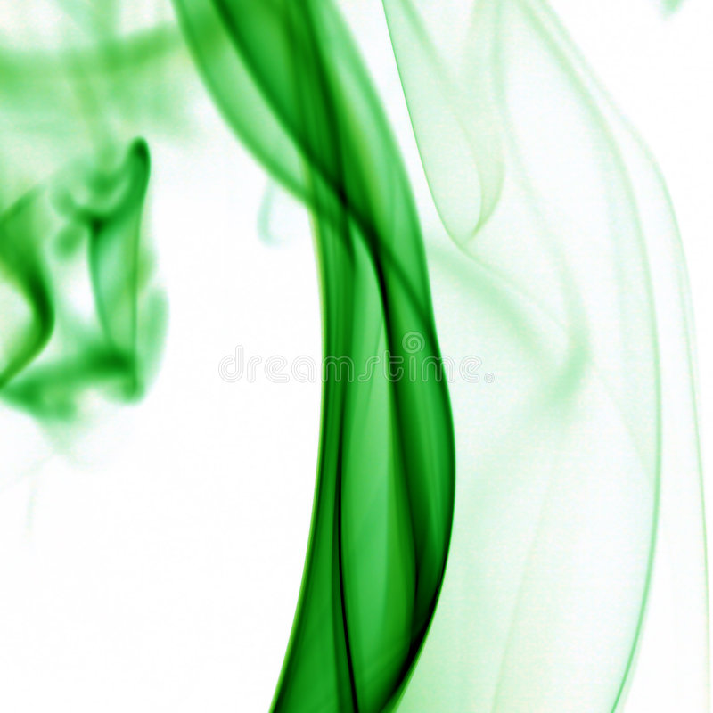 Humo verde fotos de archivo