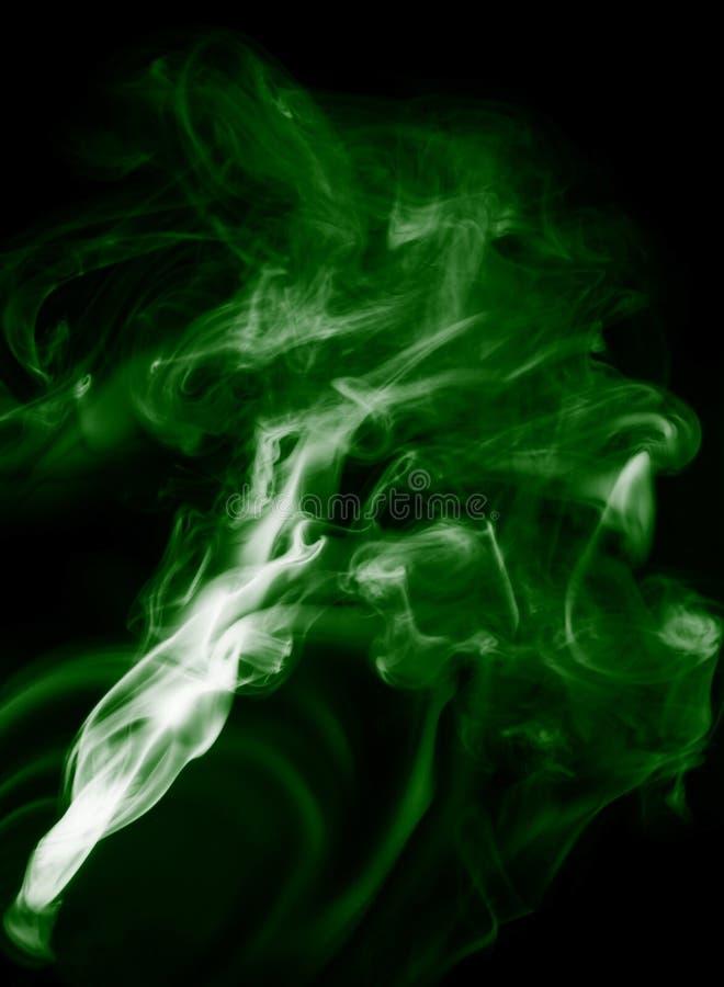 Humo verde imagen de archivo libre de regalías