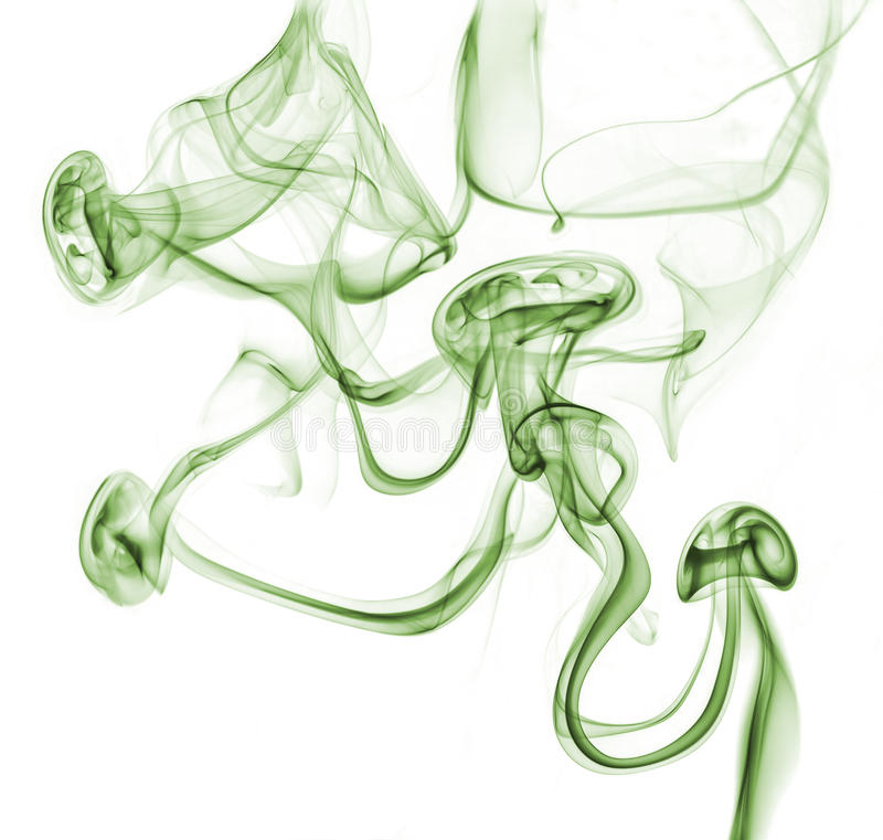 Humo verde abstracto imagen de archivo libre de regalías