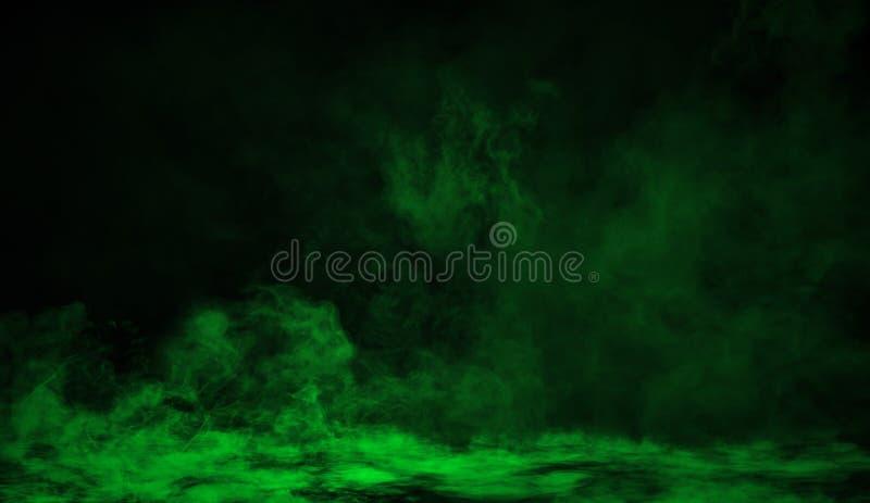 Humo verde en el piso Fondo aislado de la textura ilustración del vector