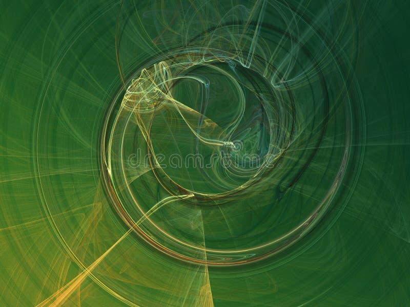Humo verde - extracto ilustración del vector