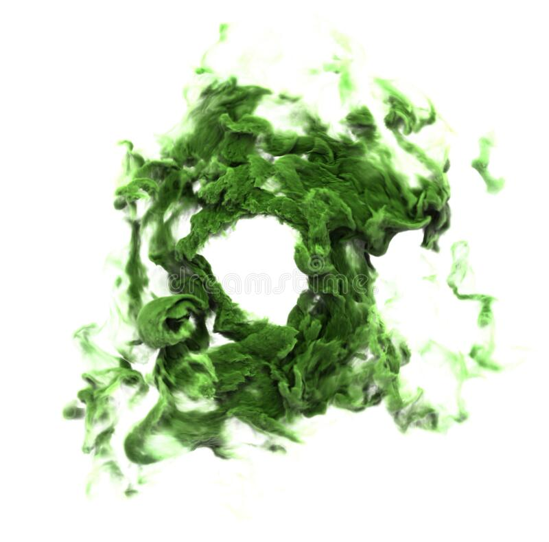 Humo verde venenoso foto de archivo libre de regalías